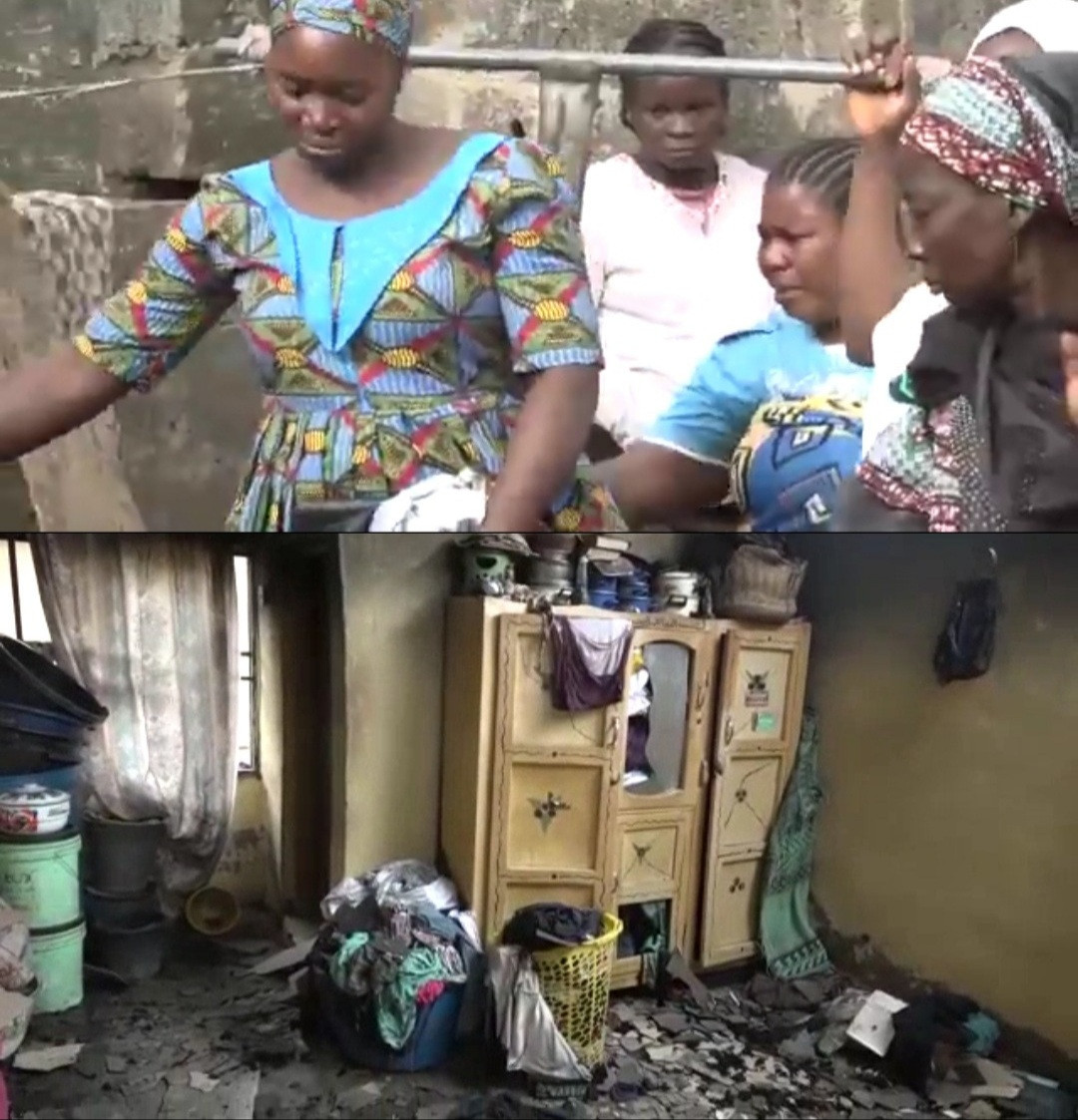Mother and her 4 children die in fire caused by candlelight in Kwara state (video)